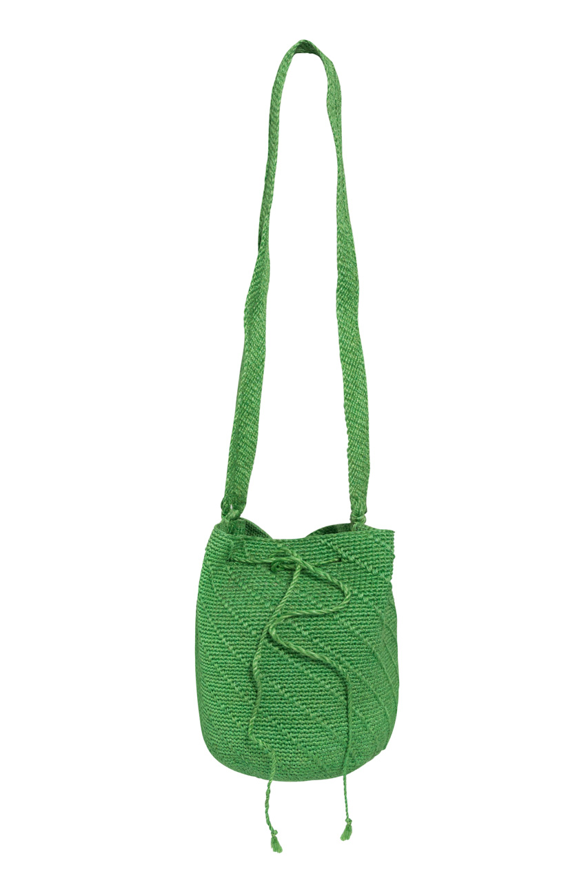 Mochila calceta de platano verde