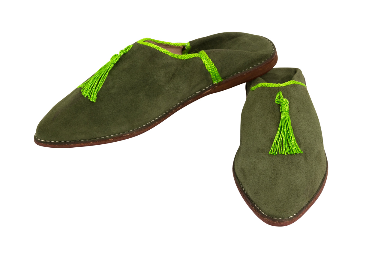 Moroccan Babouches Green