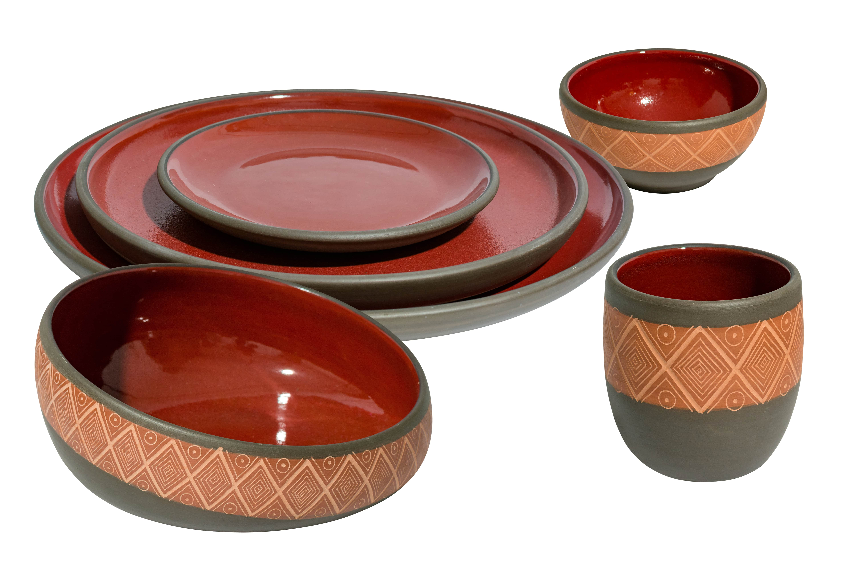 Tierra Quemada Oaxaca Diamonds Tableware set