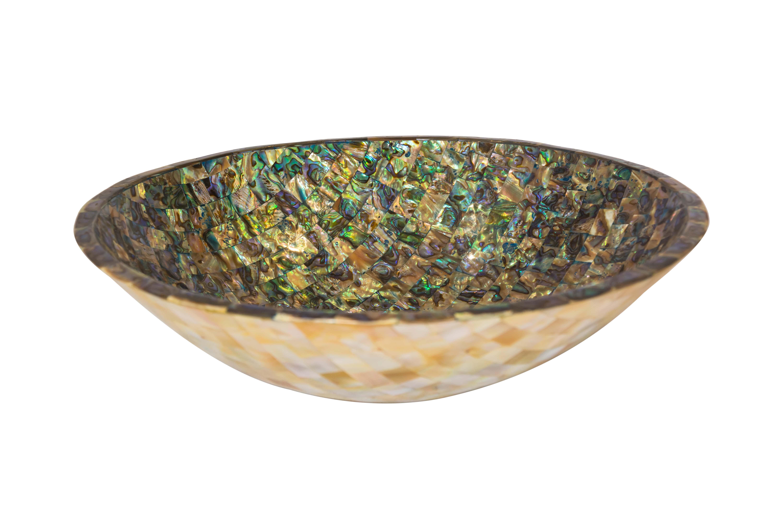 Round Abalone Bowl