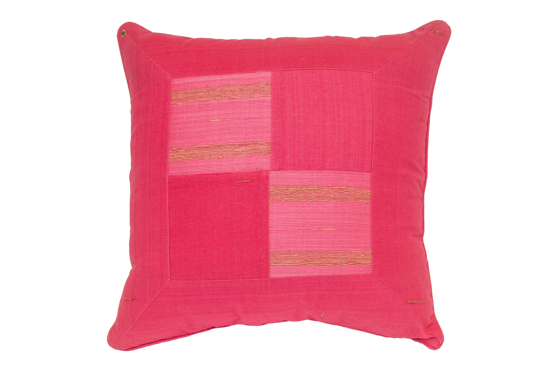 Fuchsia Indonesian cushion