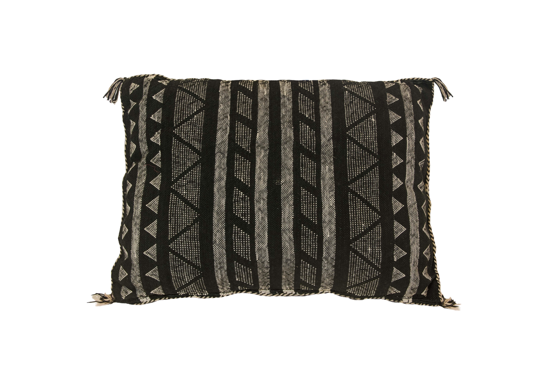 Sabra Moroccan cushion black