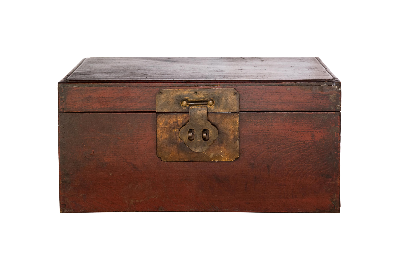 Vintage Burmese teak wood chest