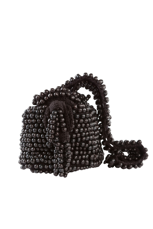 Mochila Crochet Tagua,Negra