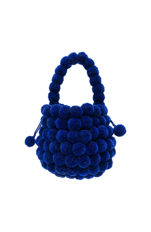 Mochila Multi-Pompom azul rey