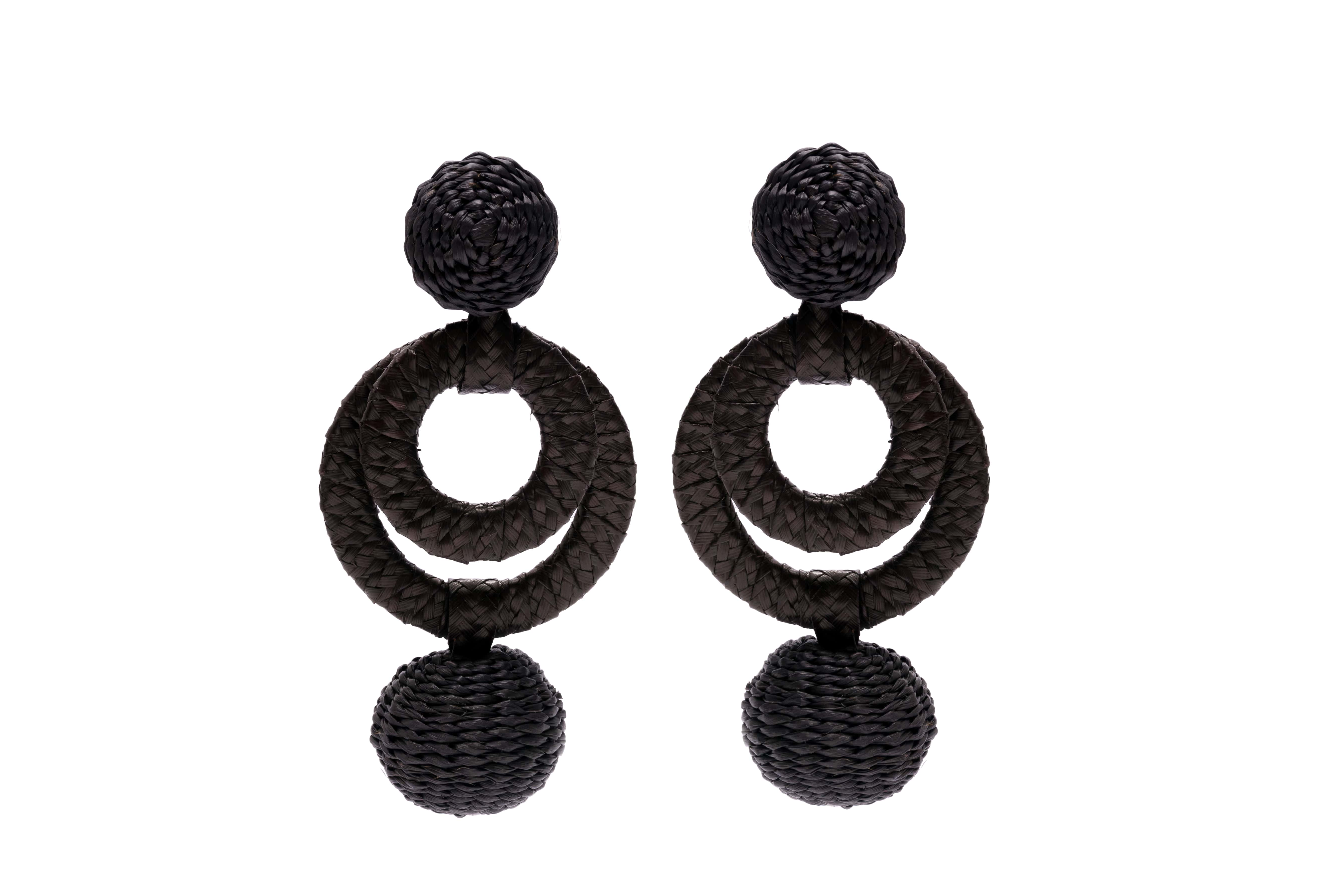 Carioca Earrings, Black
