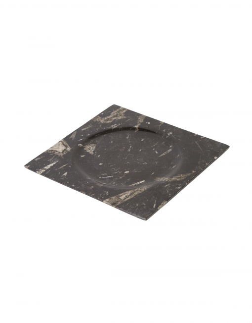 Fossilized plate Morocco Square