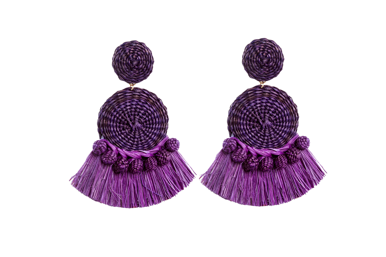 Gustavo Earrings Purple