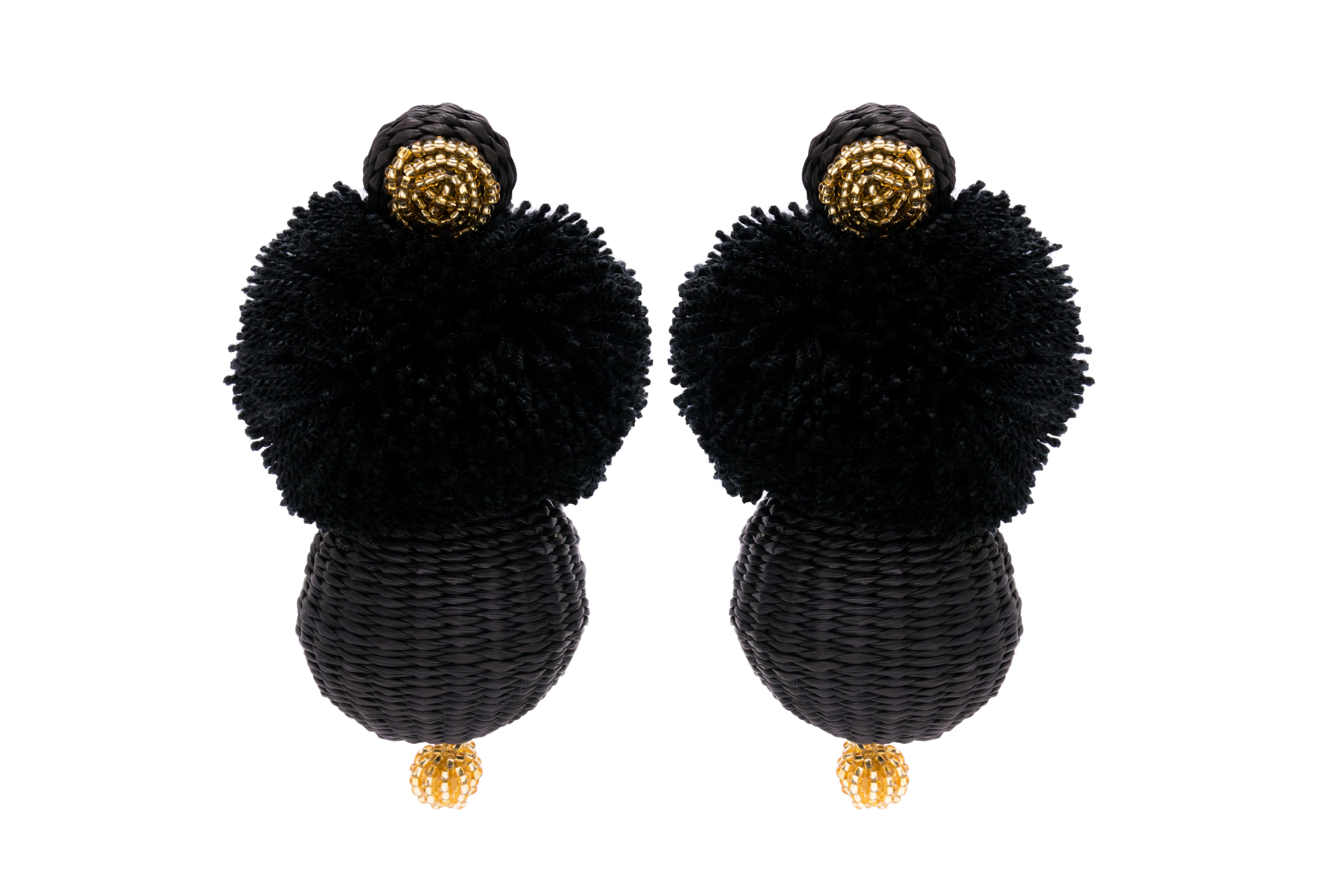 Frufru Earrings Black