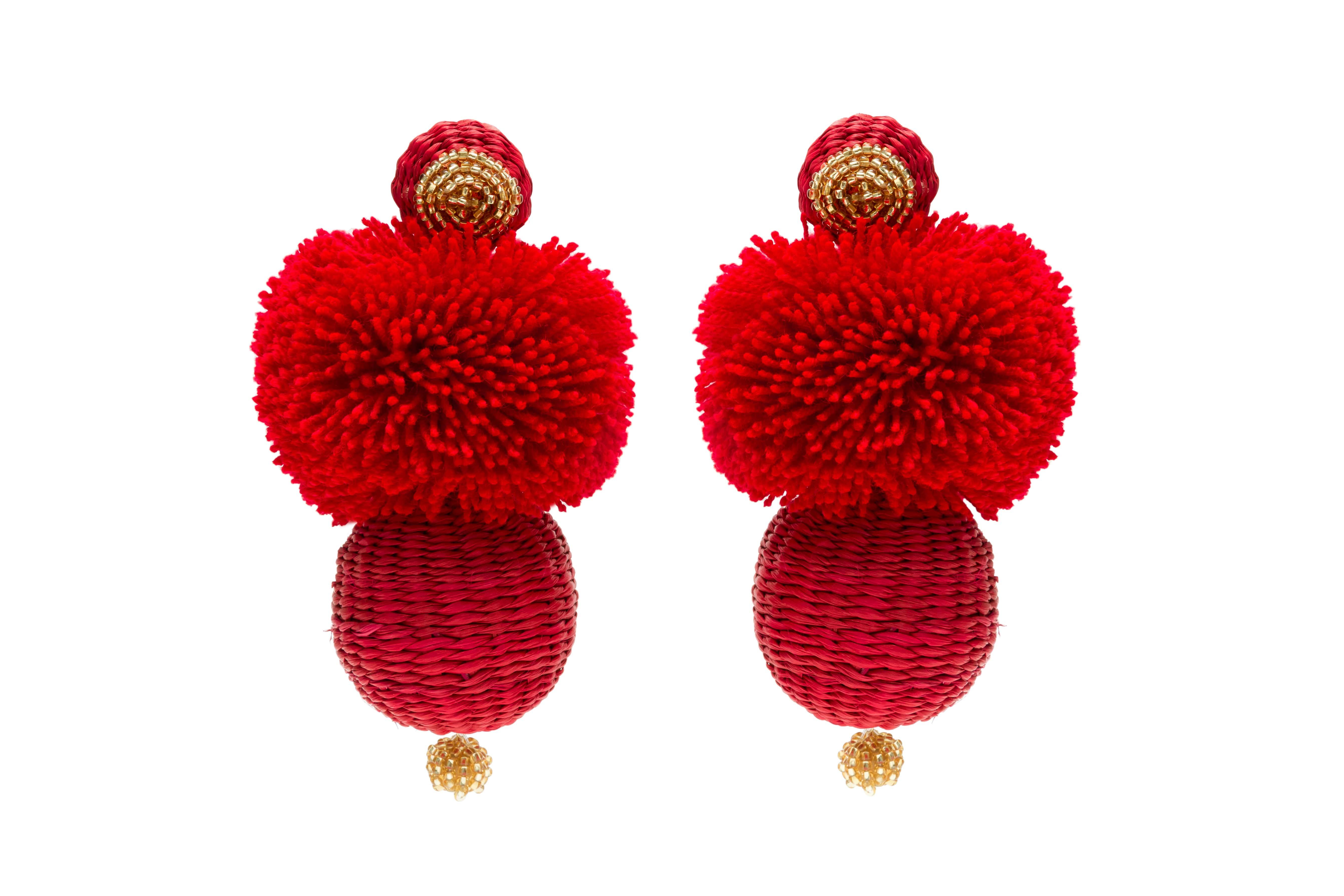 Frufru Earrings Red