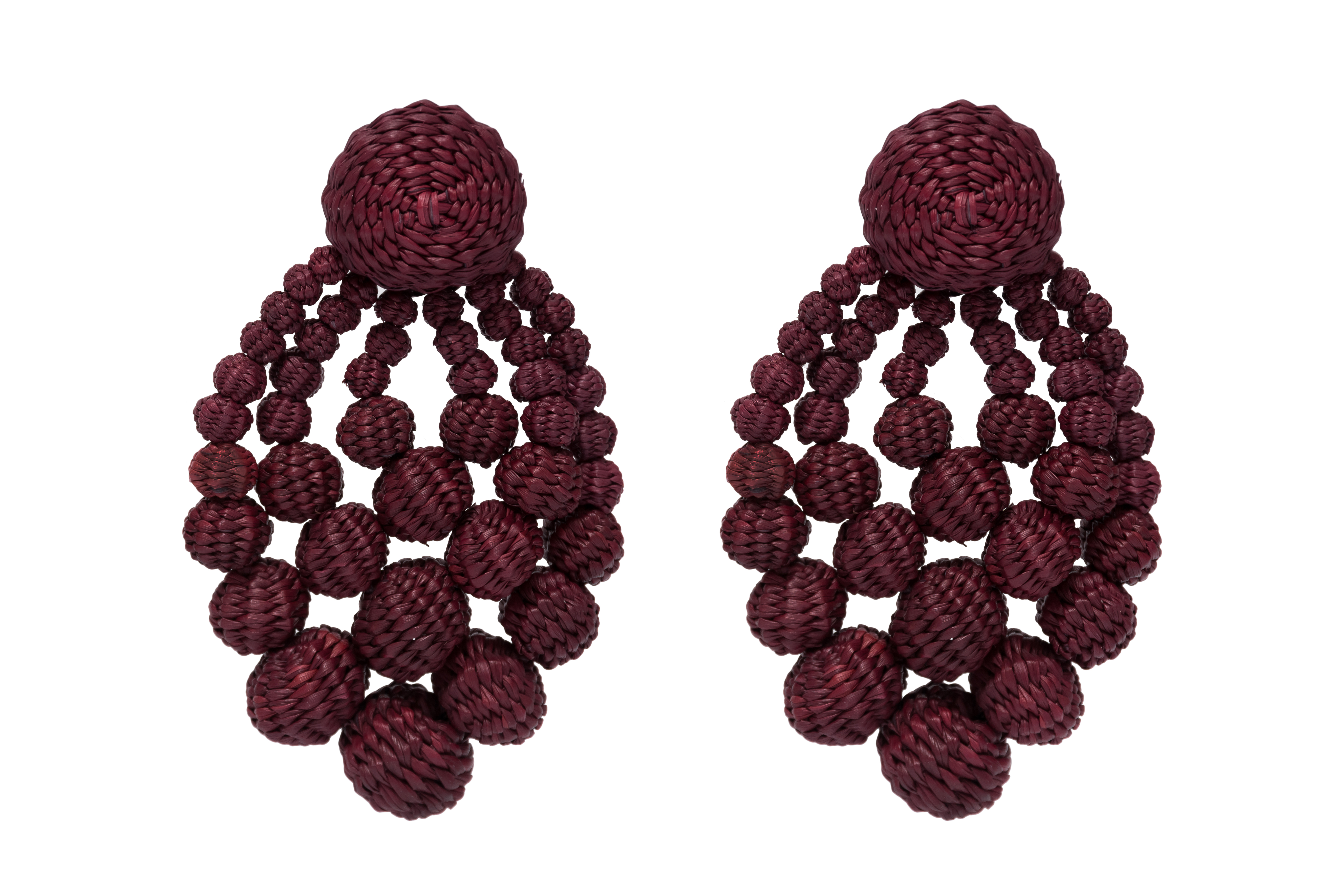 Rhombus Earring # 1 Vinotinto