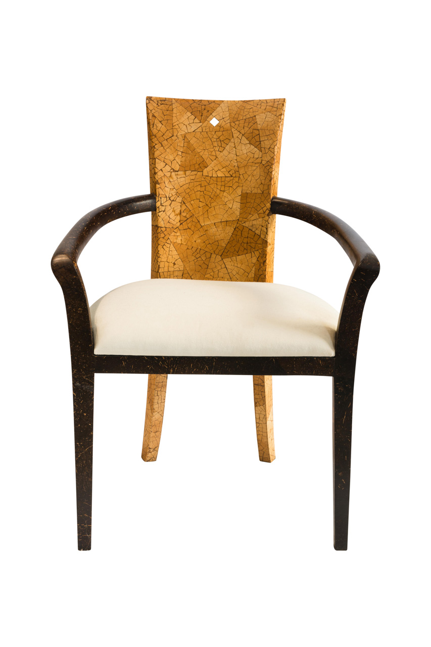 Coconut fiber dining chair