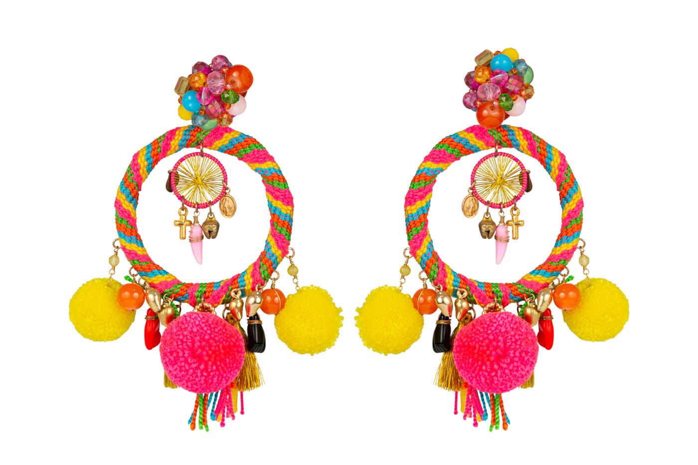 Traditional Wayuu Multicolor Earring