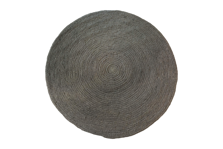 Round mat fique grey