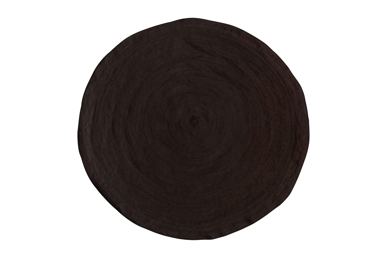 Round mat caña flecha brown