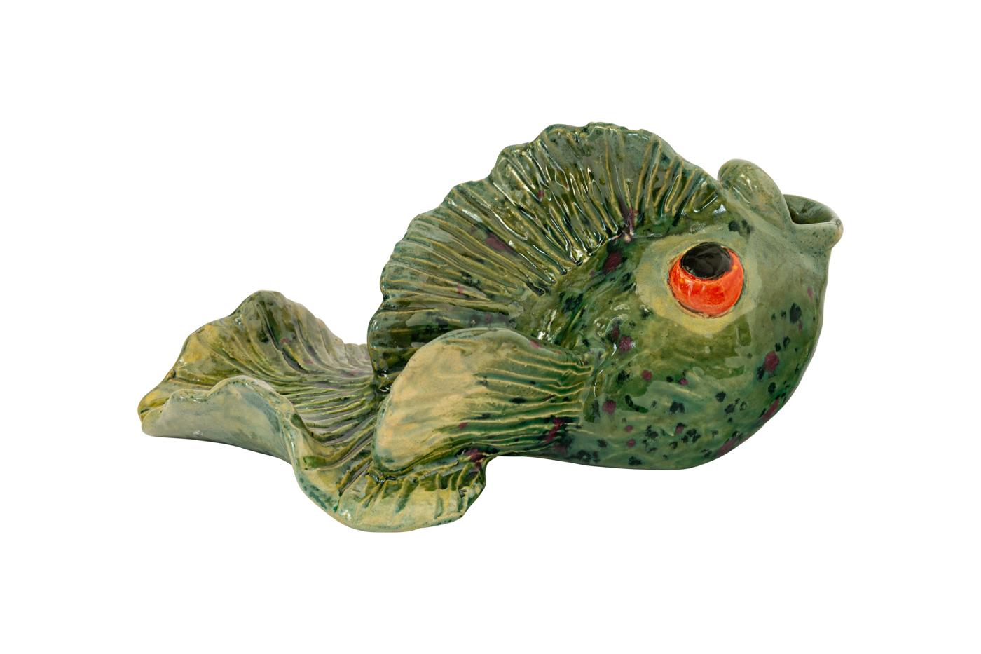 Cenicero Ceramica, Pescado Verde
