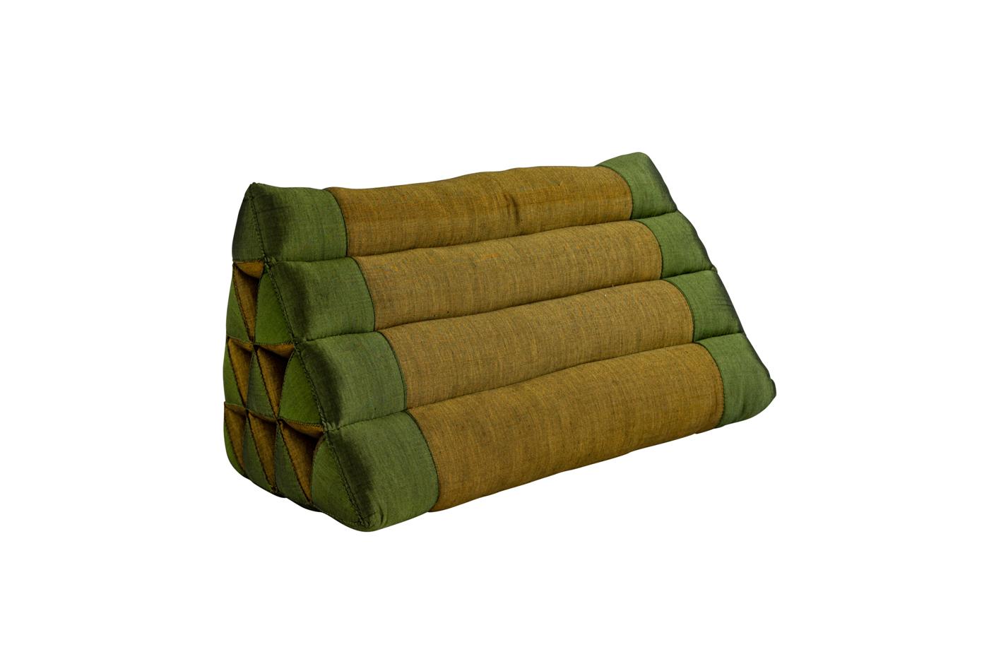 Green triangular Thai cushion