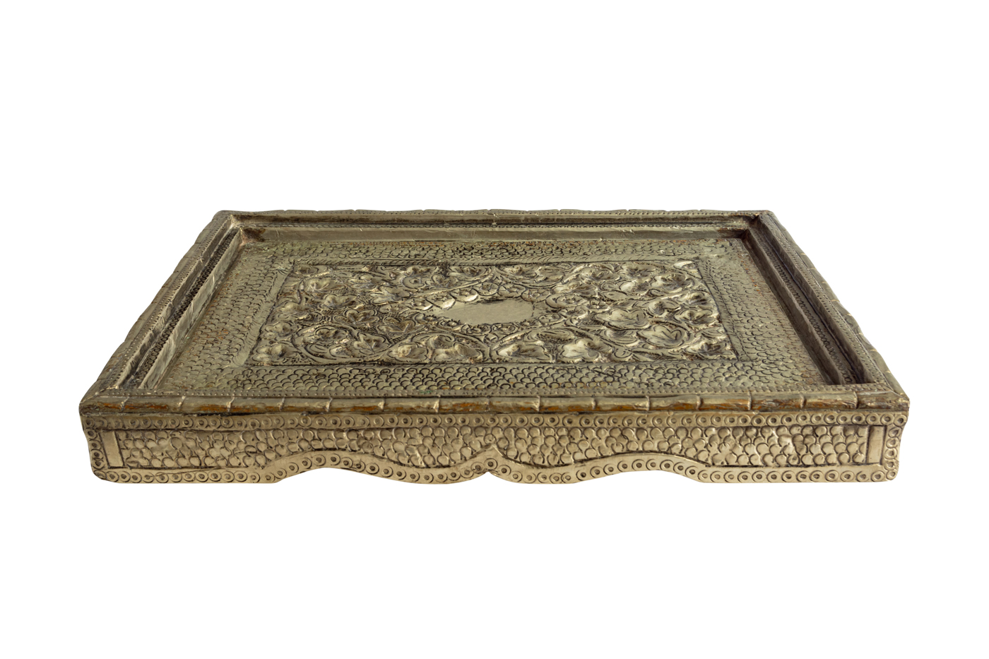 Rectangular carved tray