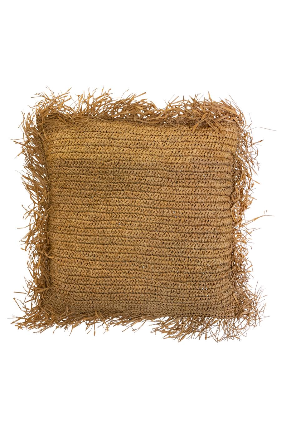 Natural fibre cushion