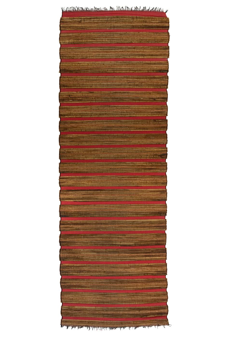 Brown-red bamboo matting