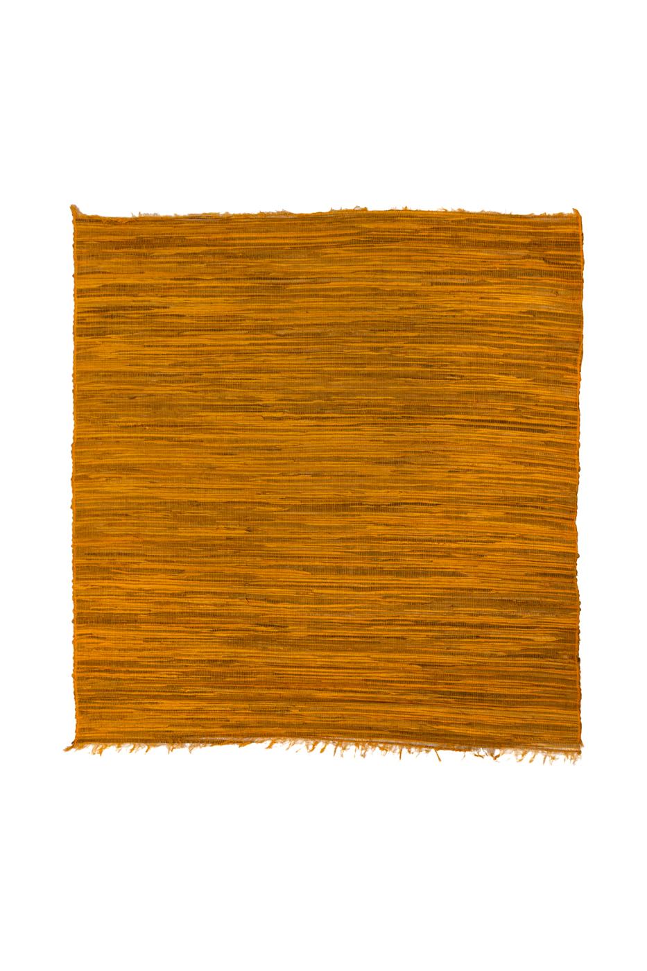 Yellow bamboo mat