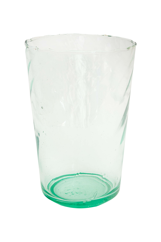 Jarrón artesanal cristal verde