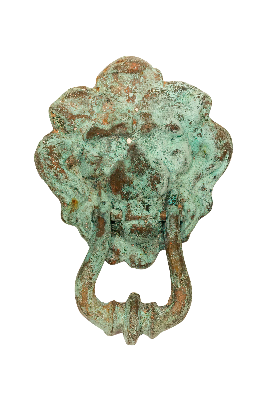 Bronze lion knocker