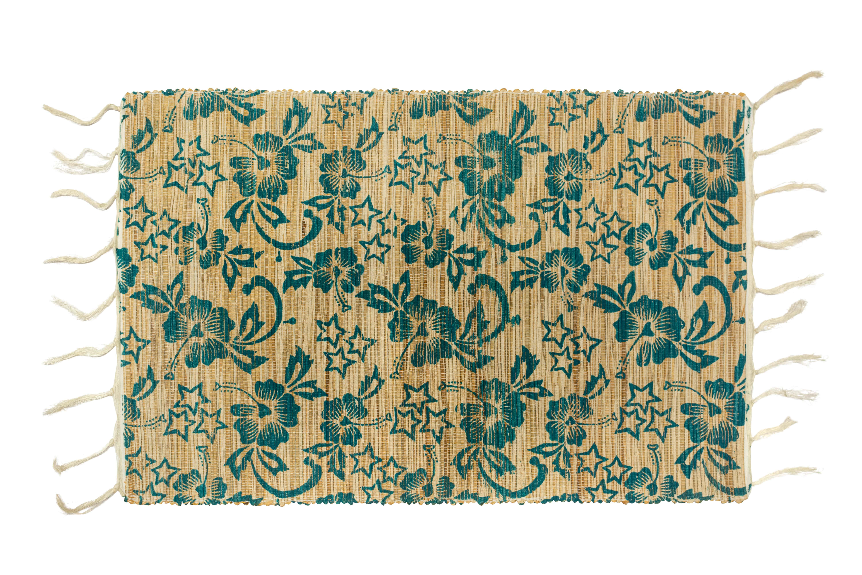 Floral bamboo rectangular placemat