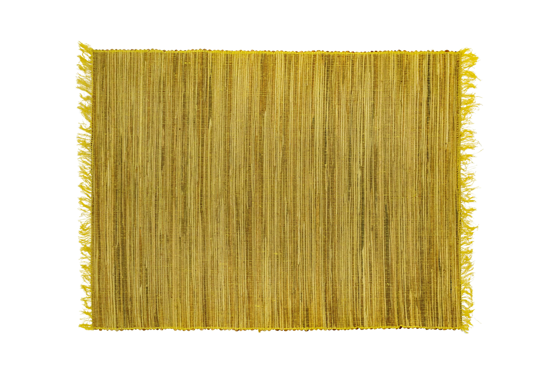 Green bamboo rectangular placemat