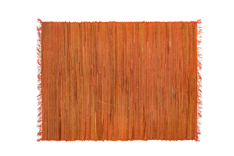 Orange bamboo rectangular  placemat
