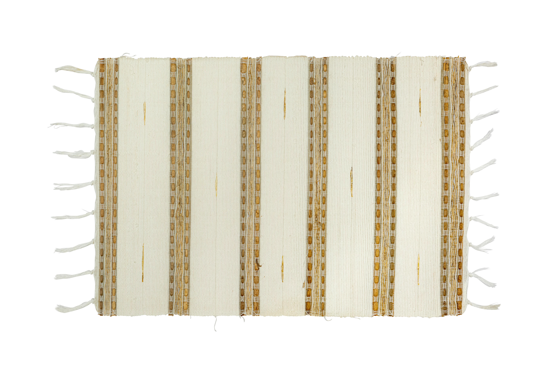 Beige bamboo rectangular placemat