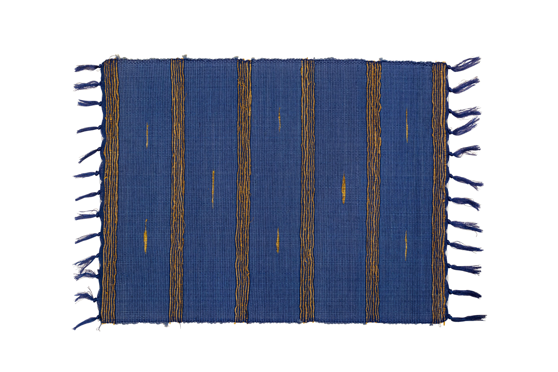Blue bamboo rectangular placemat