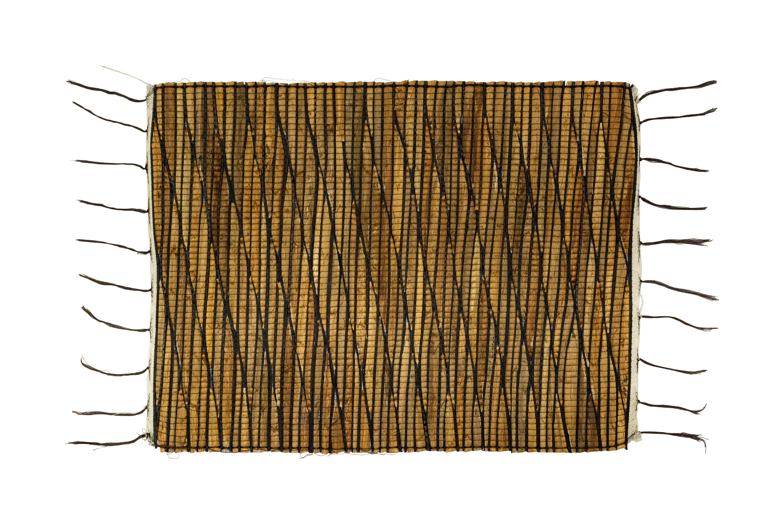 Brown bamboo rectangular placemat