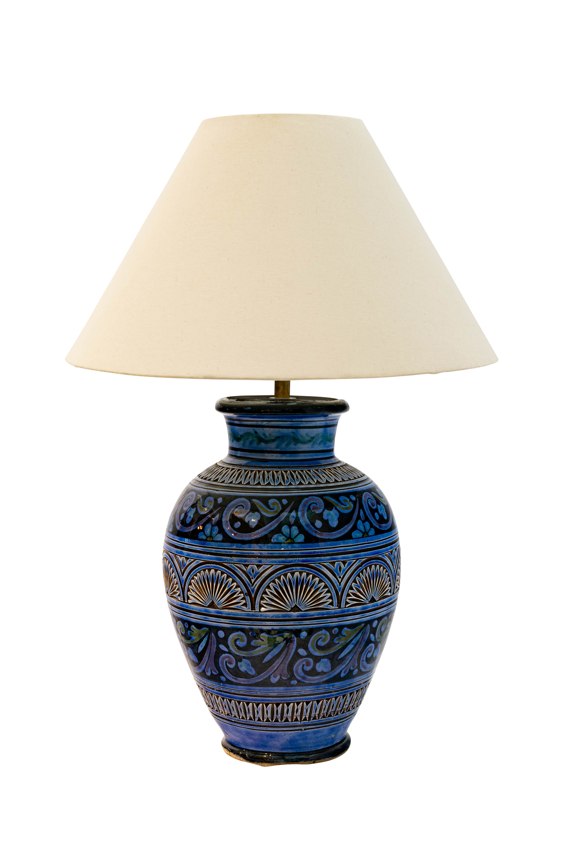 Moroccan ceramic table lamp