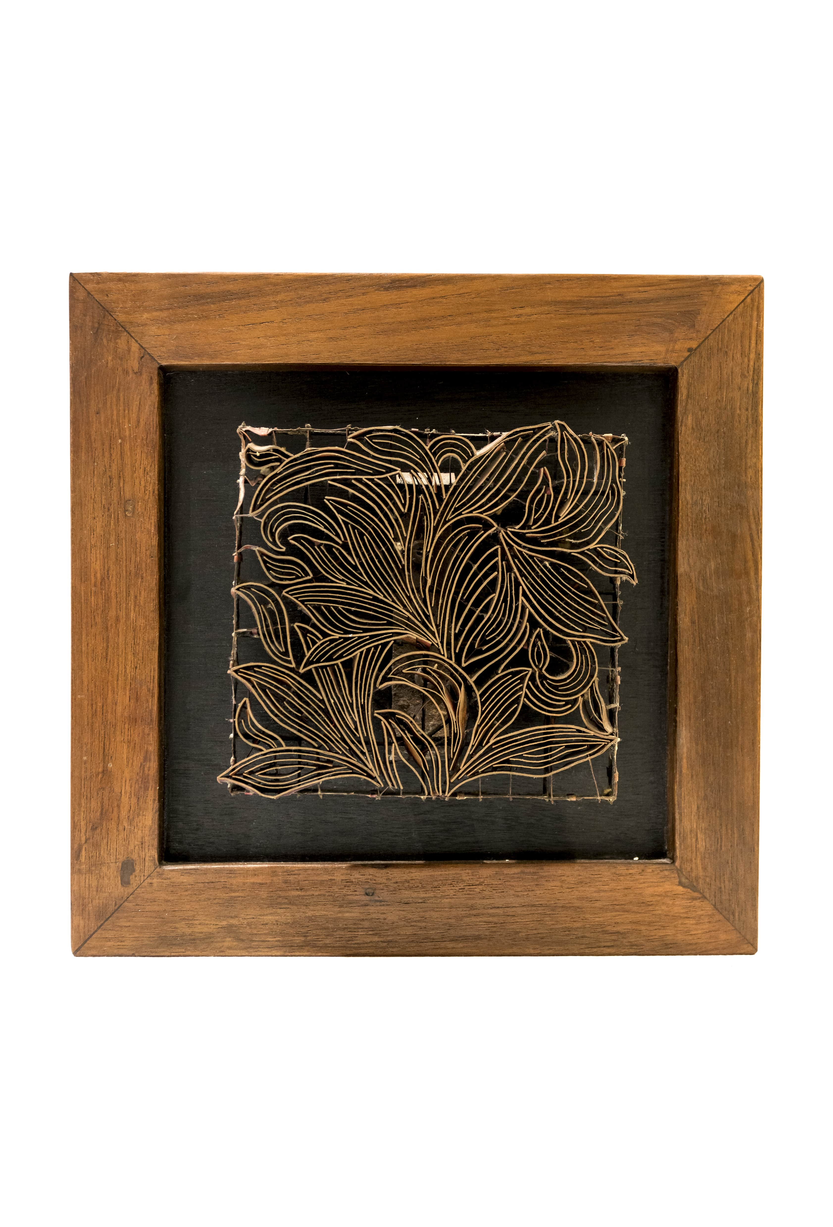 Sello Batik diseño Hojas