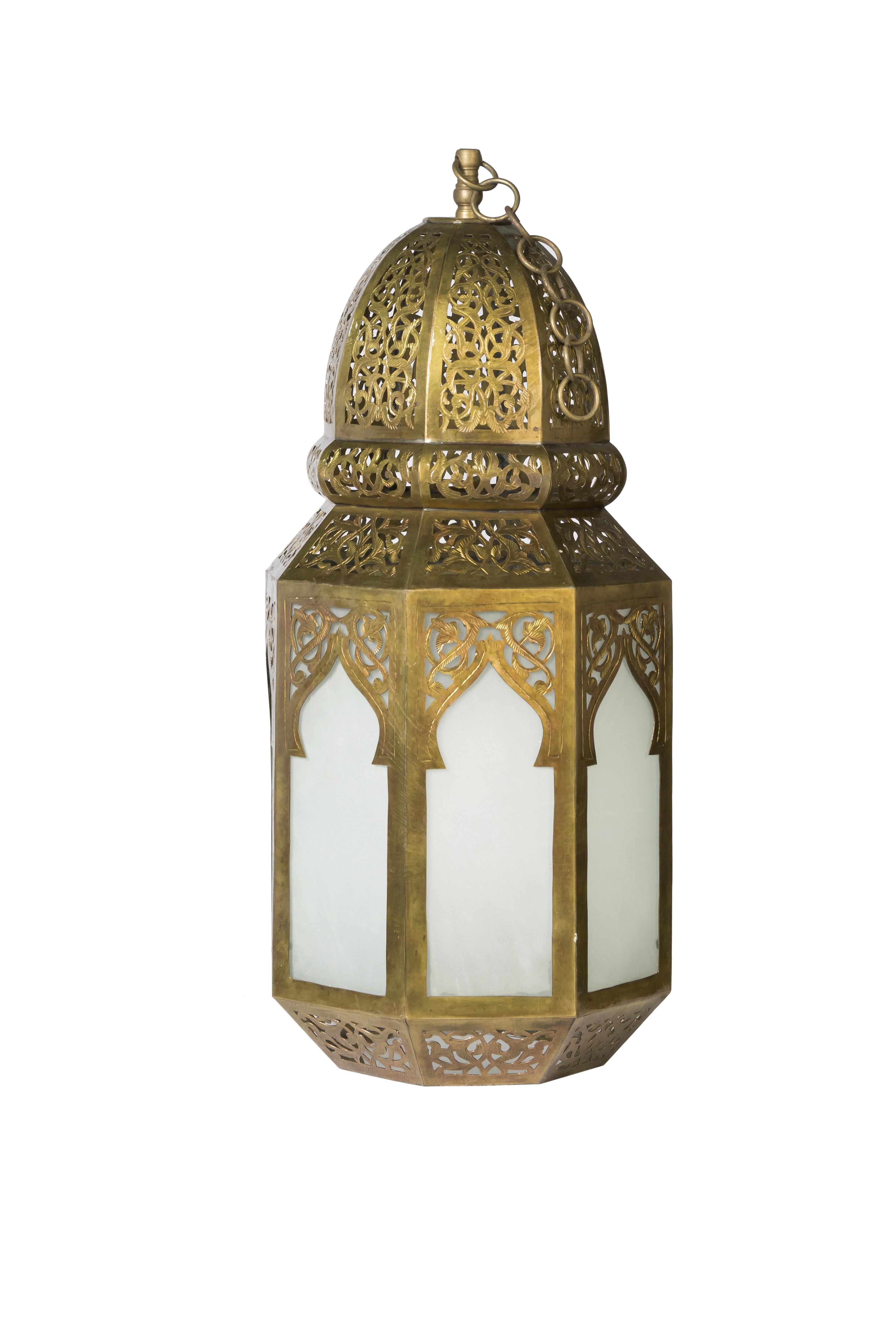 Lámpara de vitral  Marroquí