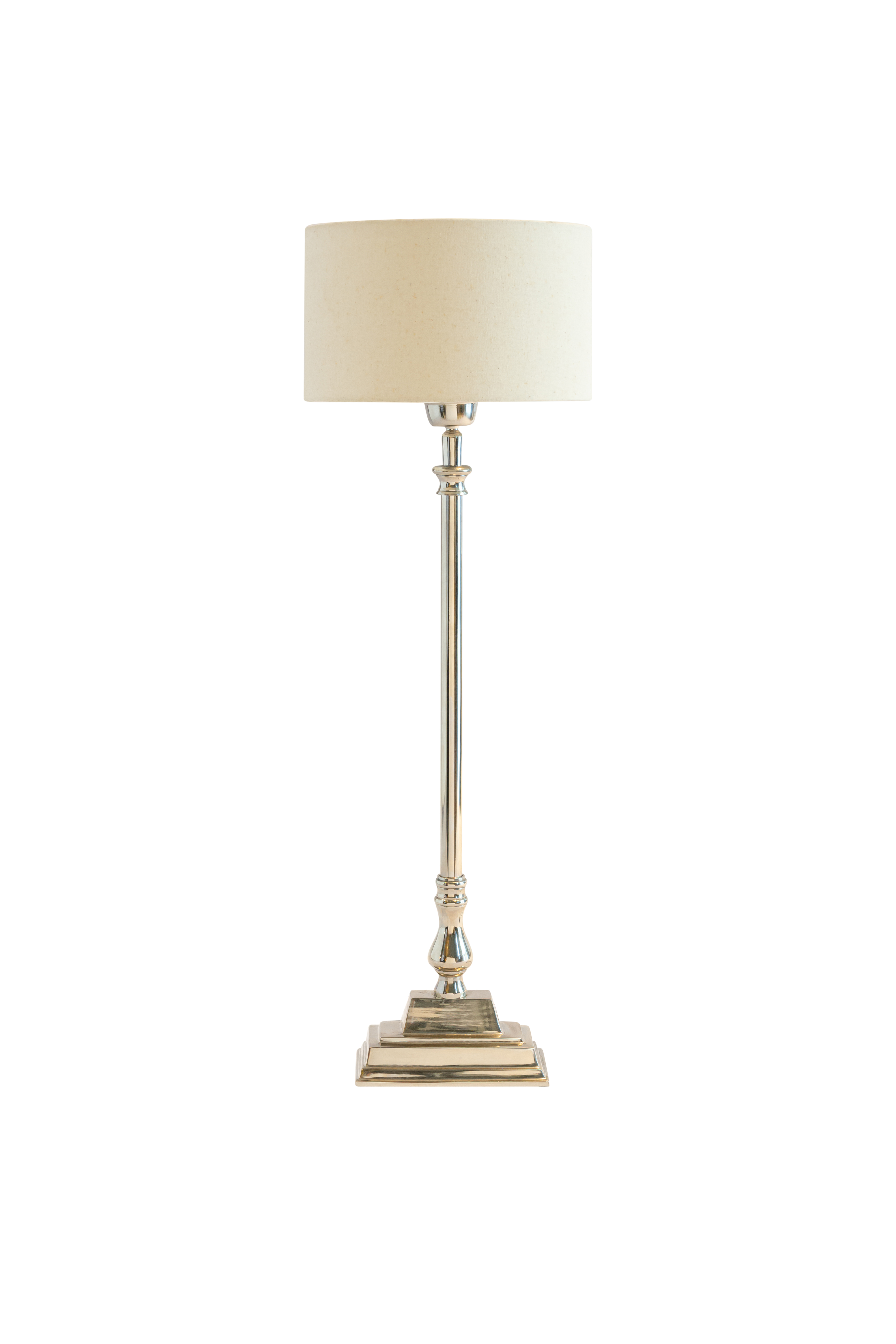 Indian table lamp silver base