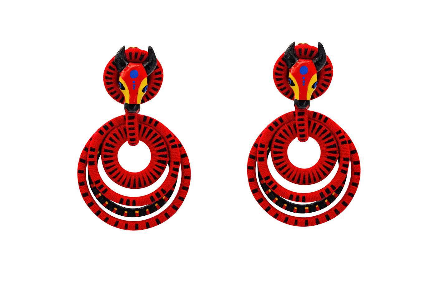 Earring Garabato Torito