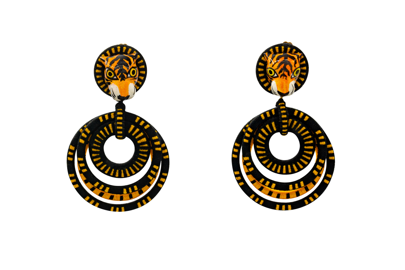 Tiger Squiggle Earring