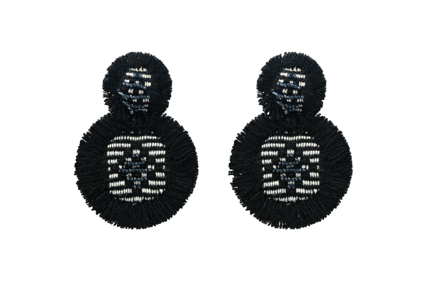 San Jacinto earrings with black fringes