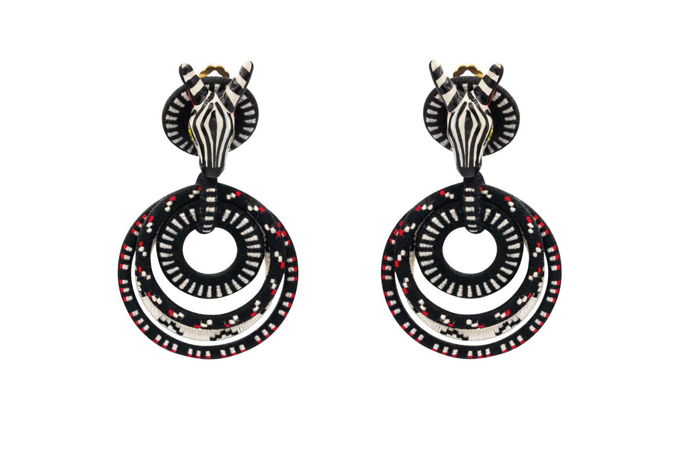 Zebra Doodle Earrings