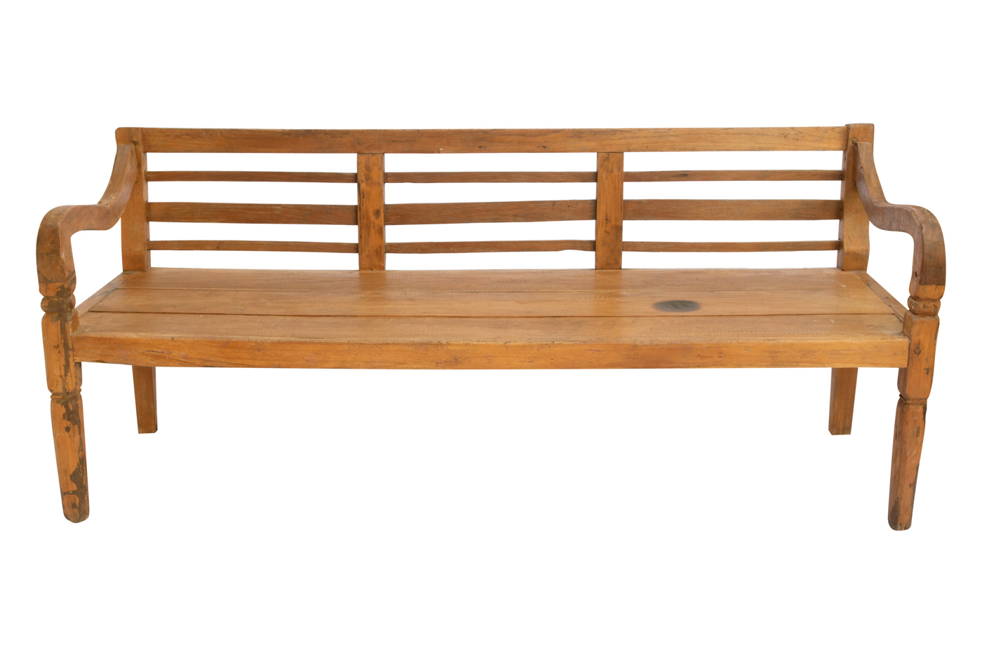Natural Balinese carved bench, 181 Cm