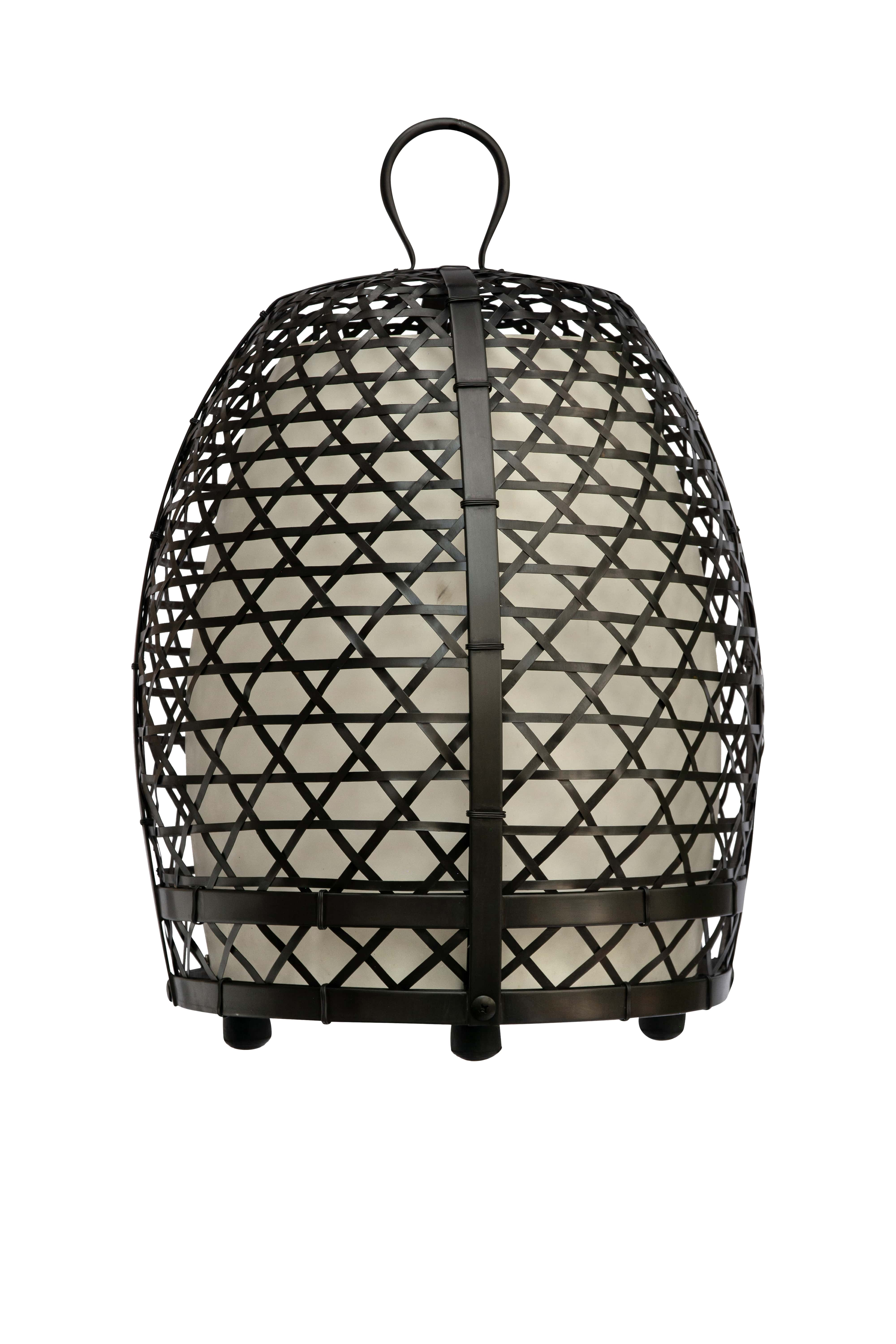 Rooster cage lamp, 77 Cm