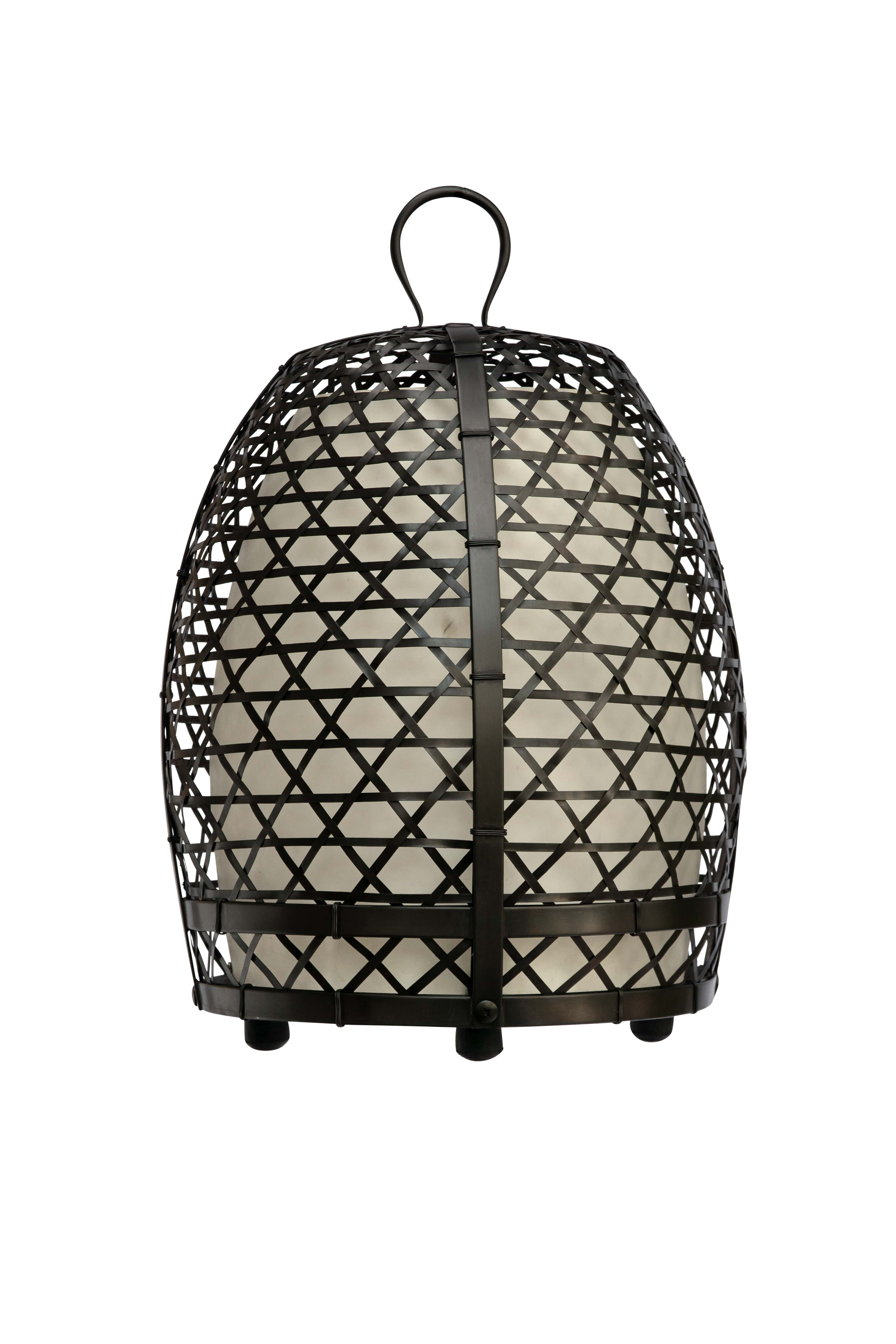 Rooster cage lamp, 69 Cm