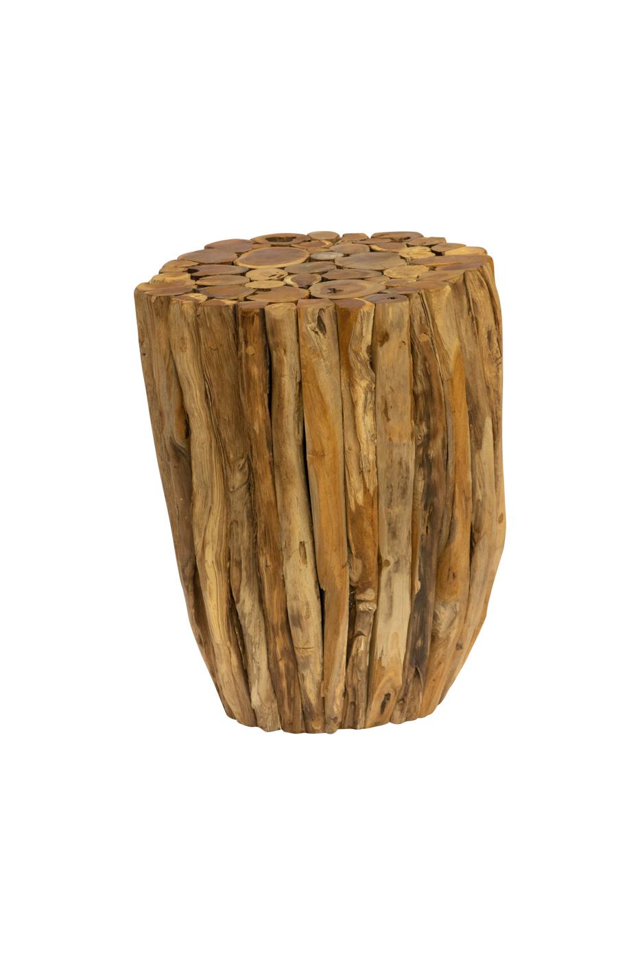 Natural teak wood log, 45 Cm