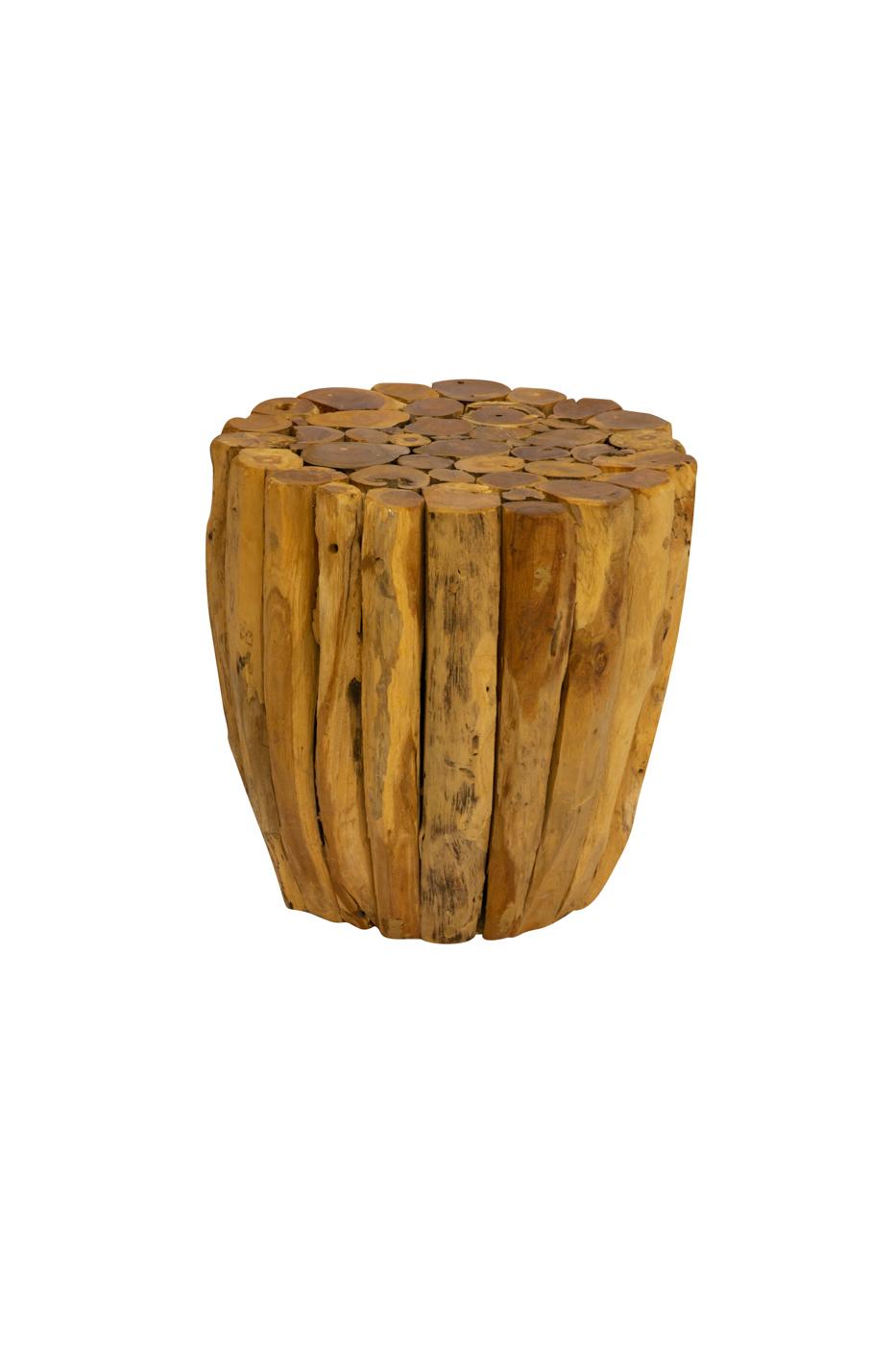 Natural teak wood trunk,35 Cm