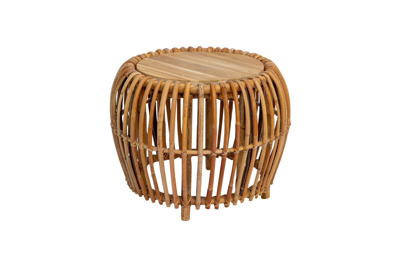 Bean round coffee table in rattan