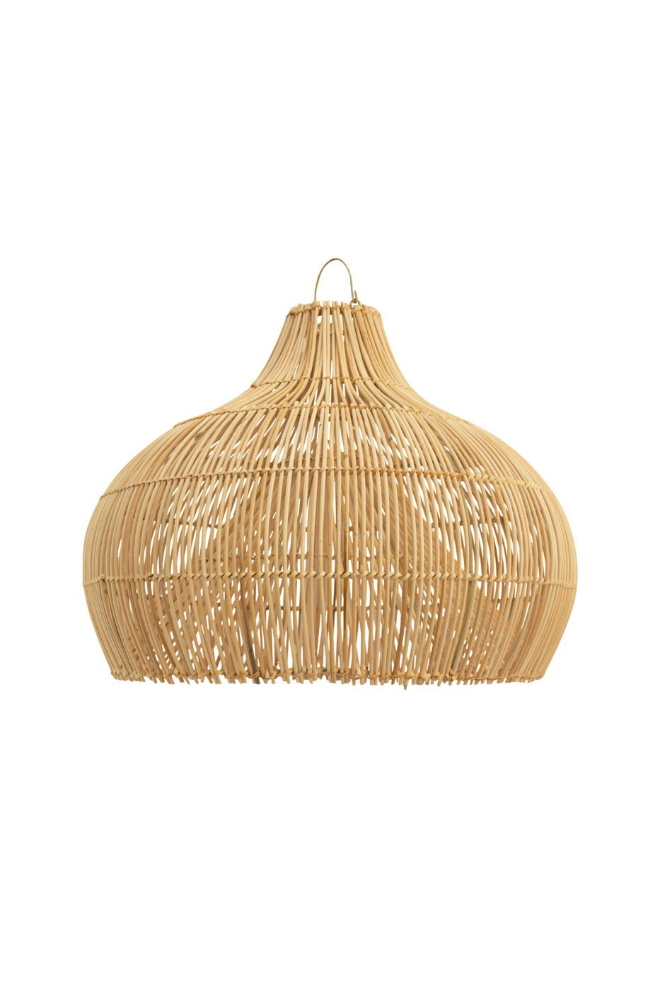 Pendant lamp in rattan bell small