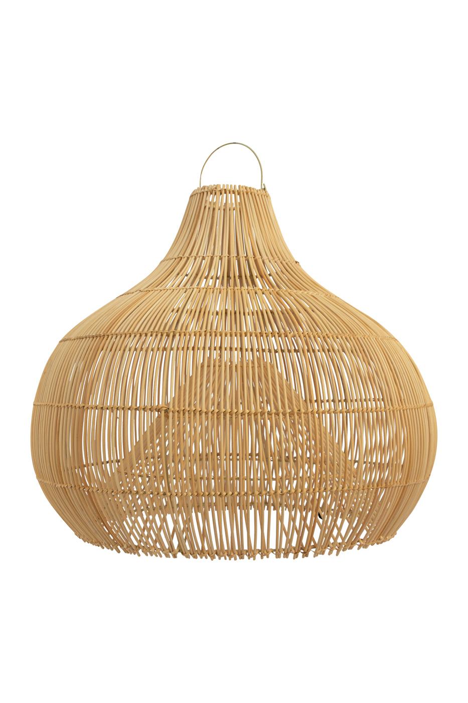 Pendant lamp in rattan bell