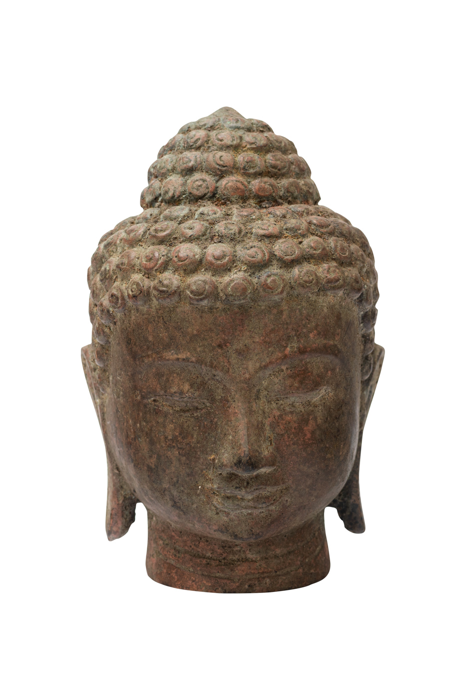 Buddha head in bronze